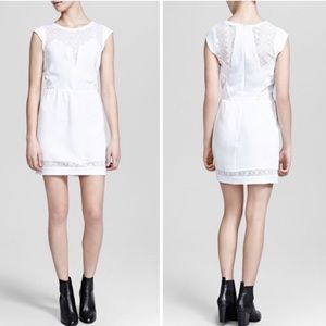 The kooples crepe and wave lace dress